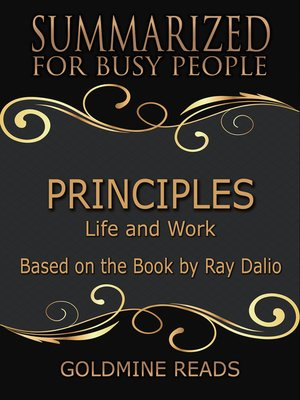 cover image of Principles - Summarized for Busy People