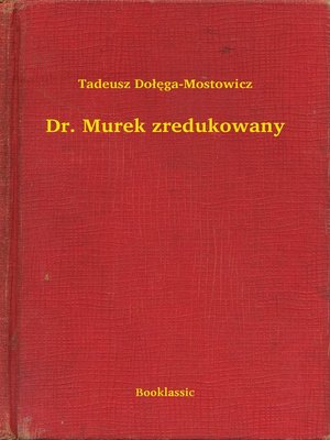 cover image of Dr. Murek zredukowany
