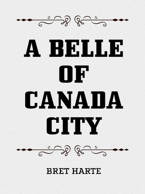 cover image of A Belle of Canada City
