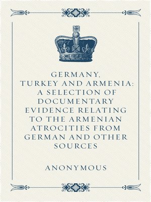 cover image of Germany, Turkey and Armenia