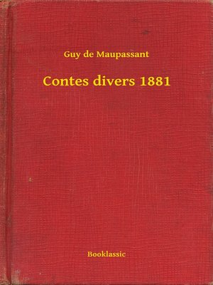 cover image of Contes divers 1881
