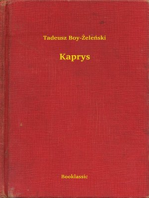 cover image of Kaprys