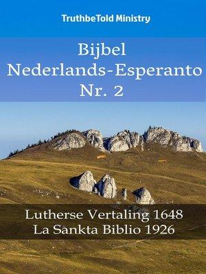 cover image of Bijbel Nederlands-Esperanto Nr. 2