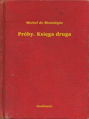 cover image of Próby. Księga druga