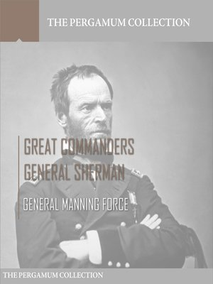 cover image of Great Commanders, General Sherman