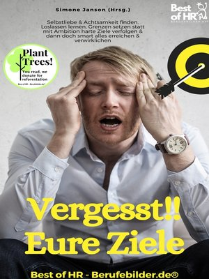 cover image of Vergesst!! Eure Ziele