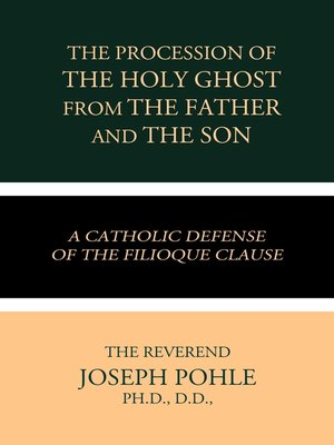 cover image of The Procession of the Holy Ghost from the Father and the Son