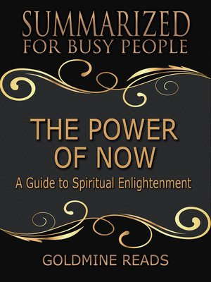 cover image of The Power of Now - Summarized for Busy People