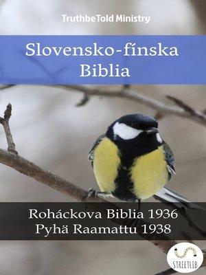 cover image of Slovensko-fínska Biblia