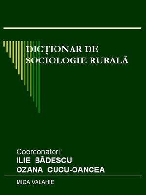 cover image of Dicționar de sociologie rurală