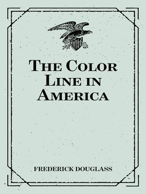 cover image of The Color Line in America