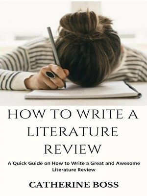 cover image of How to Write a Literature Review