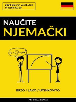 cover image of Naučite Njemački--Brzo / Lako / Učinkovito