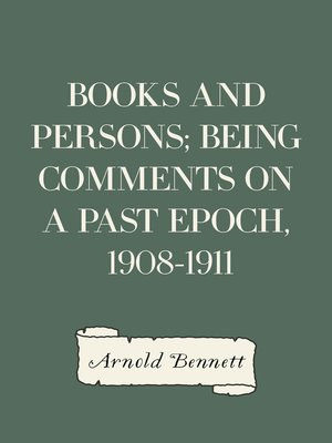 cover image of Books and Persons; Being Comments on a Past Epoch, 1908-1911