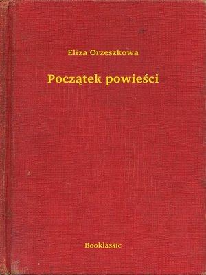 cover image of Początek powieści