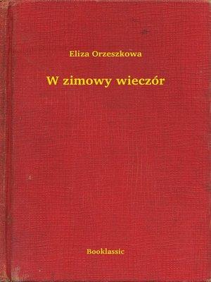 cover image of W zimowy wieczór