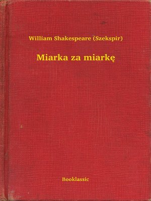 cover image of Miarka za miarkę