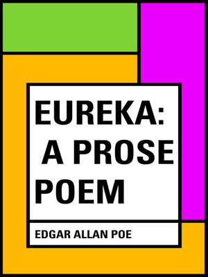 cover image of Eureka: A Prose Poem