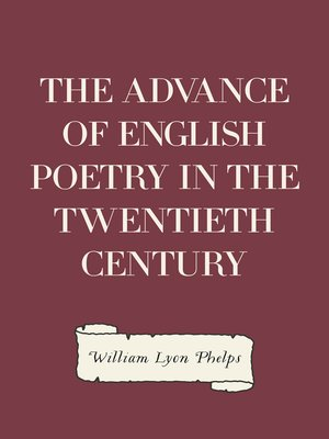 cover image of The Advance of English Poetry in the Twentieth Century