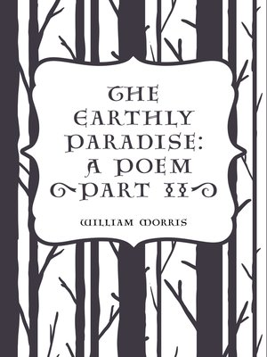 cover image of The Earthly Paradise: A Poem (Part II)