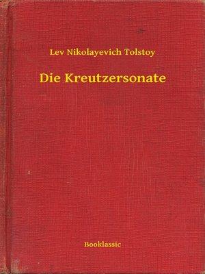 cover image of Die Kreutzersonate