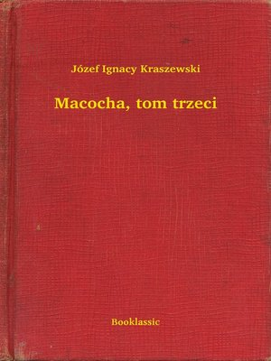 cover image of Macocha, tom trzeci