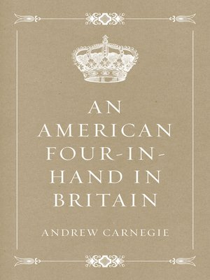 cover image of An American Four-in-Hand in Britain