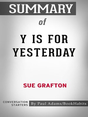 cover image of Summary of Y is for Yesterday