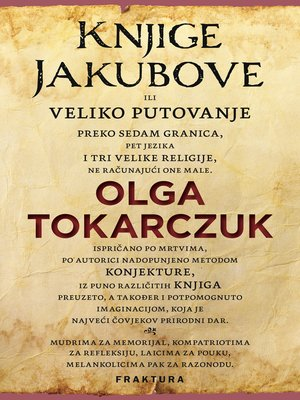 cover image of Knjige Jakubove