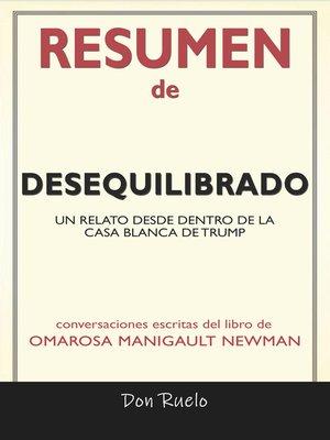 cover image of Resumen de Desequilibrado