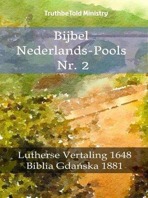 cover image of Bijbel Nederlands-Pools Nr. 2