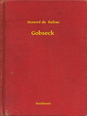cover image of Gobseck