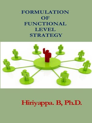 cover image of Formulation of Functional Level Strategy