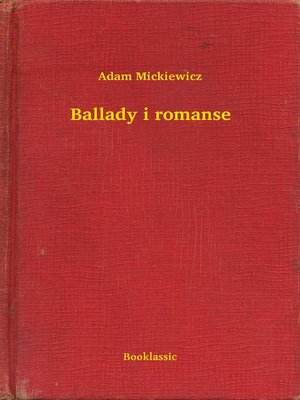 cover image of Ballady i romanse