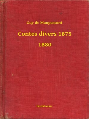 cover image of Contes divers 1875 - 1880
