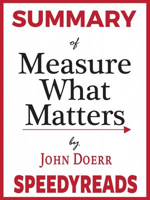 cover image of Summary of Measure What Matters