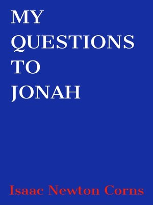 cover image of My Questions to Jonah