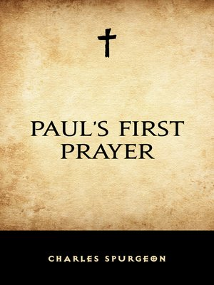 cover image of Paul's First Prayer