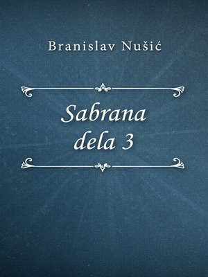 cover image of Sabrana dela 3