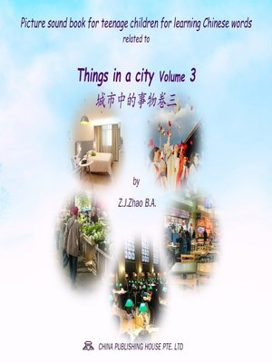 cover image of Picture sound book for teenage children for learning Chinese words related to Things in a city Volume 3