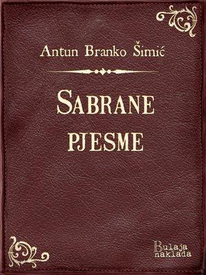 cover image of Sabrane pjesme