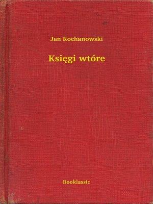 cover image of Księgi wtóre