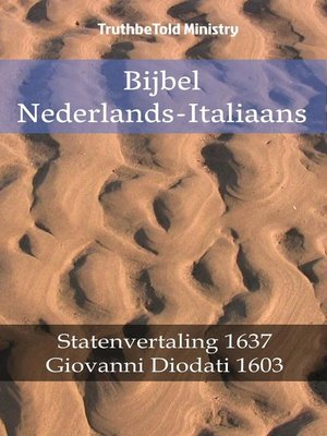cover image of Bijbel Nederlands-Italiaans