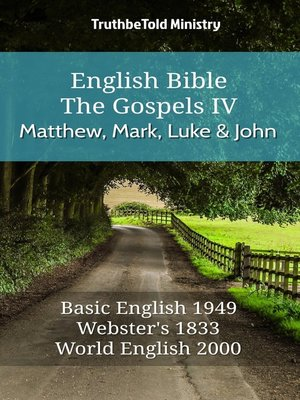cover image of English Bible--The Gospels IV--Matthew, Mark, Luke and John