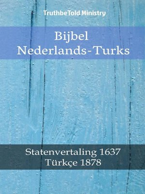 cover image of Bijbel Nederlands-Turks