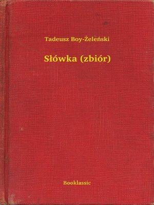 cover image of Słówka (zbiór)