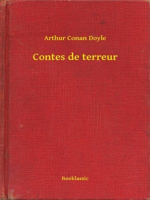 cover image of Contes de terreur
