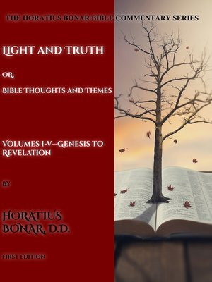cover image of The Complete Horatius Bonar Bible Commentary Series 1-5