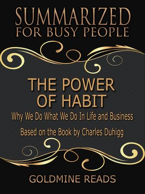 cover image of The Power of Habit - Summarized for Busy People