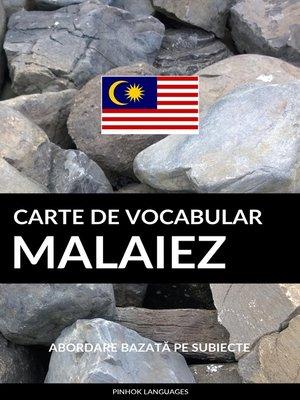 cover image of Carte de Vocabular Malaiez